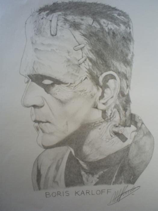 Boris Karloff by pencilartandy